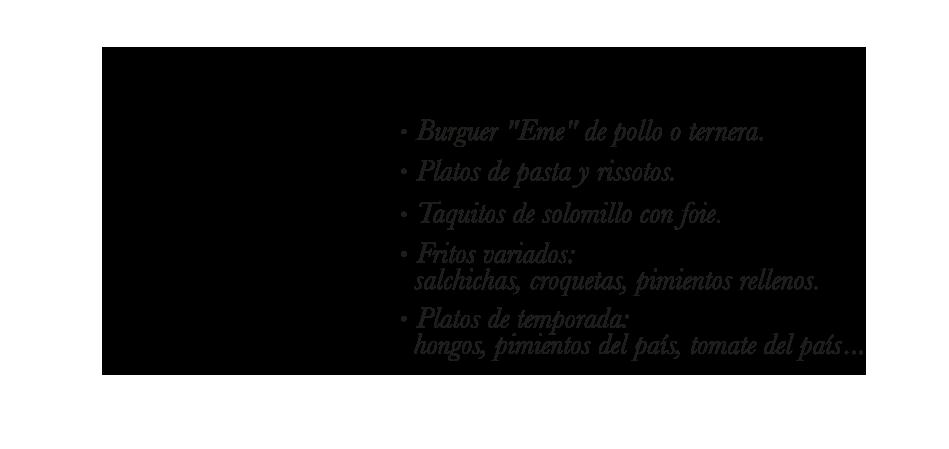 Especialidades del Bar Eme de Bilbao, famoso por sus sandwiches y su receta de salsa secreta